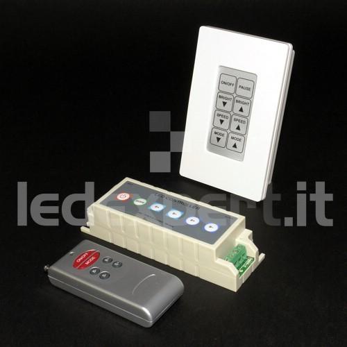 Controller RGB con Tecomando e Pannello da Incasso